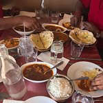 Chicken Laziz, Fish Methi, Garlic Naans & Rice