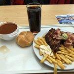 Gulash + ribs and fries