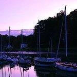 Port de Saint Goustan à la tombée de la nuit