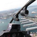 Birds eye view as we approach Sydney Bridge