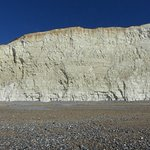 Chalk cliff face at the Birling Gap