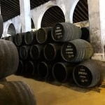 Sherry barrels in the Lustau wine cellar