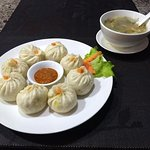 Soft dough in vegetarian momo, thin dough in meat momo.