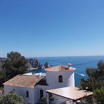 Sea View from 1st Floor Terrace of 6 Bed Villa sleeps up to 12, 2 mins from Granadella Playa.