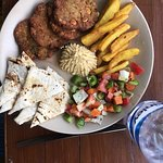 Falafel plate is quite good. And coffees are good too