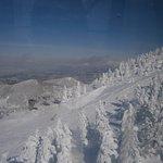 蔵王スキー場 青空の下でシュプール