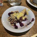 Apple and Berry Crumble with Custard!