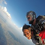Spectacular & thrilling sunset skydiving action