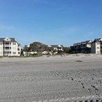 Looking back from beach toward condos