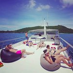 Chilling and relaxing on the 60ft Day Cruiser