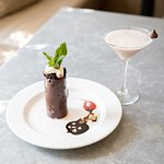 Chocolate Mouse Tower with Chocolate Martini