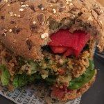 Vegan burger at All Bar One Edinburgh Airport