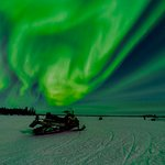 At times the Aurora almost fills the sky and lights up the night