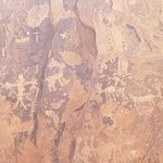 Petroglyphs in the canyon