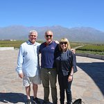 At Diamandes Winery with Gustavo (middle).