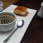 mini pudding and coffee