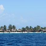 Garifuna settlement on Chachahuate Cay, Cayos Cochinos, Bay Islands Honduras