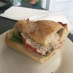 Tuna Sandwich on baguette and Curry Chicken on Croissant