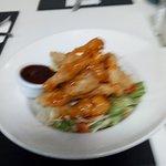 Thai chicken salad main course.