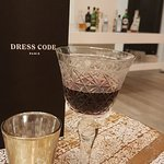 Even the wine glasses were carefully chosen for the honesty bar.