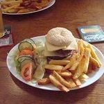 Delicious Burger & a local  Beer :o)