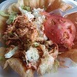 Taco salad close-up