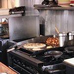 My giant pancake cooking