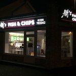 New signage at Alf's Fish and Chip Shop