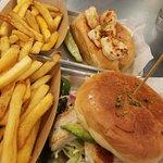 Grilled fish sandwich vs. grilled shrimp roll