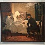 Vassili Efanov, Staline au chevet de Gorki malade (sans date), exposé pour la première fois.