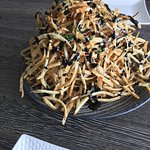 "Pomme Frites with balsamic (about 8"" tall!)"