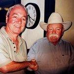 Bob Quattlebaum (OleBob) meets a great actor and good guy at Binion's Casino ..Wilford Brimley.