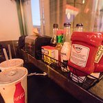 Condiments at table