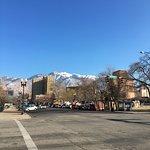 Looking toward the mountain from main street