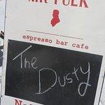 Cafe bill board on La Trobe Street.