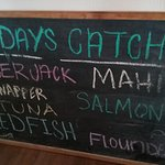 Today's Catch Blackboard