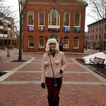 My wife during the Salem Historical Tour.
