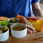 A Tapas Taster Board, perfect for a Sunday afternoon enjoying Live on the Lawn.