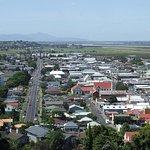 Town view with Hauraki Plain at the far background