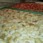 foccaccia and pizza