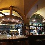Rustic bar area!