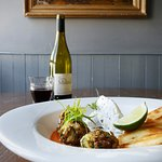 Courgette Koftas, Rice Curd & Apricot Flat Bread