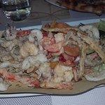 fritto di pesce e verdura