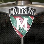 Maudslay badge on a Post Office Stores lorry