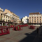 view down the Plaza Mayor