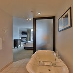 Relax in our deep bath tubs in our ensuite bathrooms.