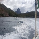 The pitons emerging....
