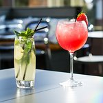 Join us on our outdoor terrace for cocktails in the sunshine