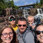 Most of the family with the falls in the background!