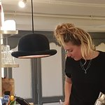 Quirky bowler hat lamp!